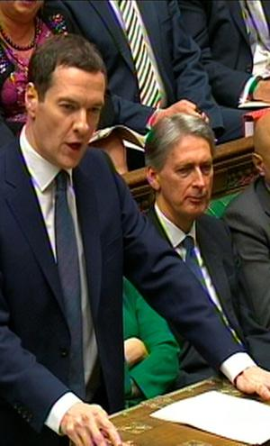 Chancellor of the Exchequer George Osborne delivers his Budget