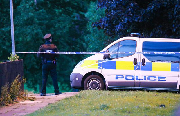 PSNI officers at the scene of the incident in the Kirkistown Walk area of south Belfast. Photo: Kevin Scott / Presseye