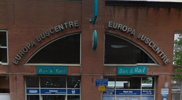 Europa bus and train centre Great Victoria Street pic. Google maps
