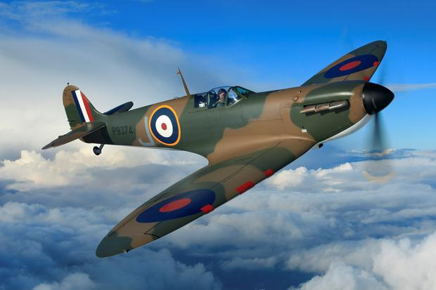 Undated handout file photo issued by Christie's of a restored Spitfire that has sold for a record price at auction - with the multi-million-pound profits donated to charity