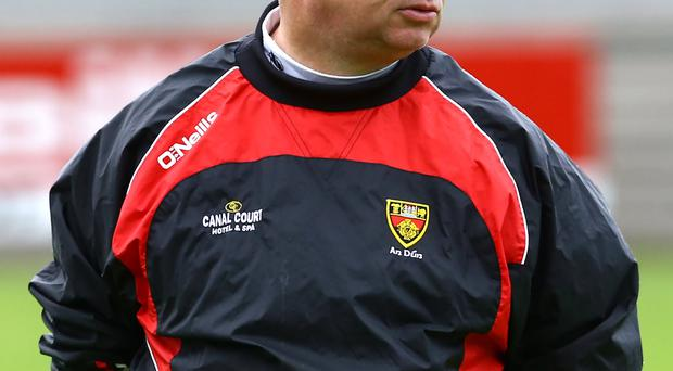 Bring it on: Down boss Michael Johnston is relishing final