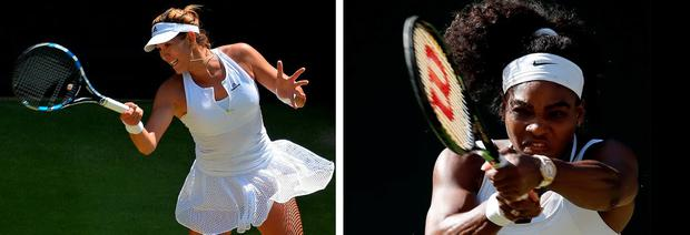 Wimbledon final: Serena Williams (right) v Garbine Muguruza