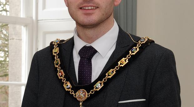 Lord Mayor of Armagh, Banbridge and Craigavon, Councillor Darryn Causby.