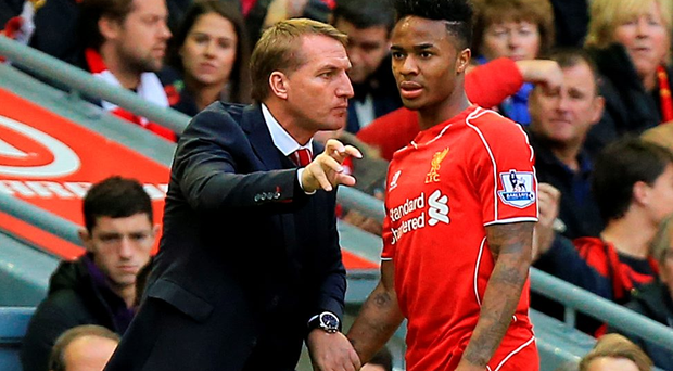 On your way: Liverpool boss Brendan Rodgers has allowed Raheem Sterling to move to Manchester City