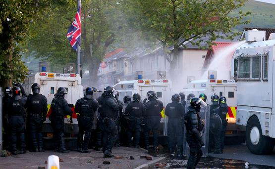 A 16-year-old girl was charged with rioting after she was arrested yesterday in north Belfast