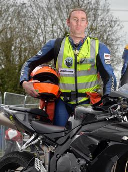 PACEMAKER, BELFAST, 2015: Road race doctor, Dr John Hinds who has been injured in a crash during practice for Skerries road races in Co Dublin today. PICTURE BY STEPHEN DAVISON