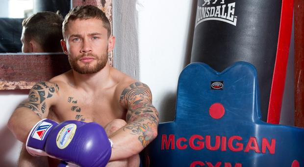 Press Eye Photography - Northern Ireland - Sunday 5th July 2015 Carl Frampton at McGuigan's Gym, Battersea, London. Picture by Andrew Fosker / Presseye / Cyclone