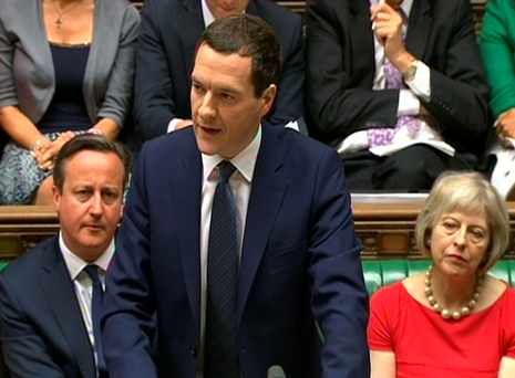 George Osborne delivering his Budget statement in the House of Commons