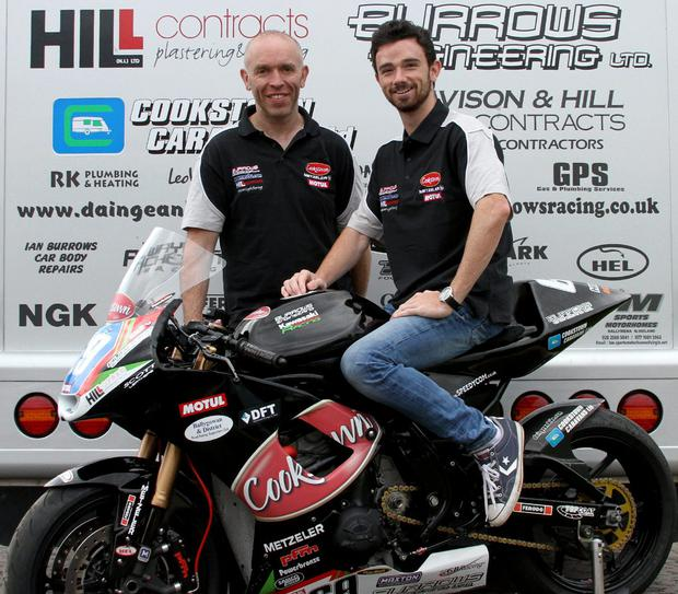Striving for glory: Glenn Irwin with Cookstown B.E Racing team owner John Burrows
