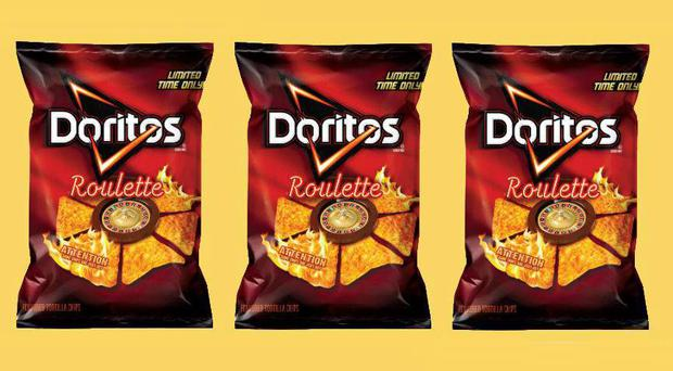 The new Doritos Roulette crisps are not recommended for children