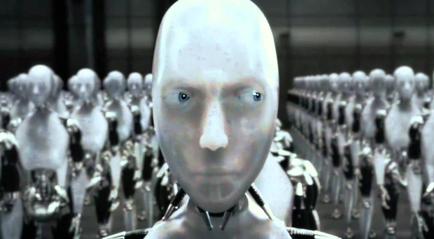 Robots become a threat to humanity in the Sci-Fi movie I, Robot