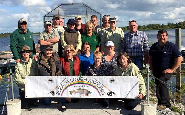 Catch of the day: participants enjoy the Irish Ladies Fly-Fishing Association outing at Bleach Lough