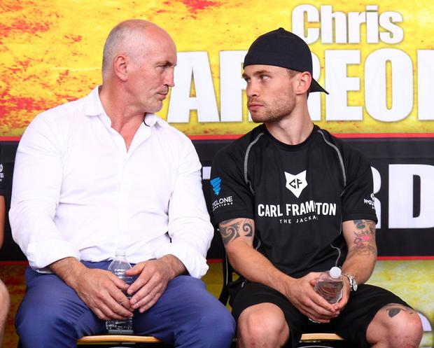 Double act: Barry McGuigan signed up Carl Frampton six years ago and has overseen his relentless march to the IBF World super-bantamweight title
