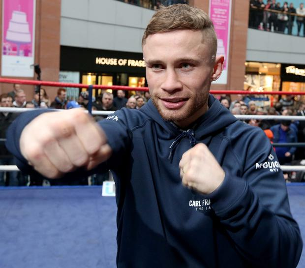 'Excitement has been building with the Frampton camp doing a daily countdown to the big day'