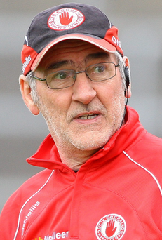 Big positive: Mickey Harte was happy with his side's patience