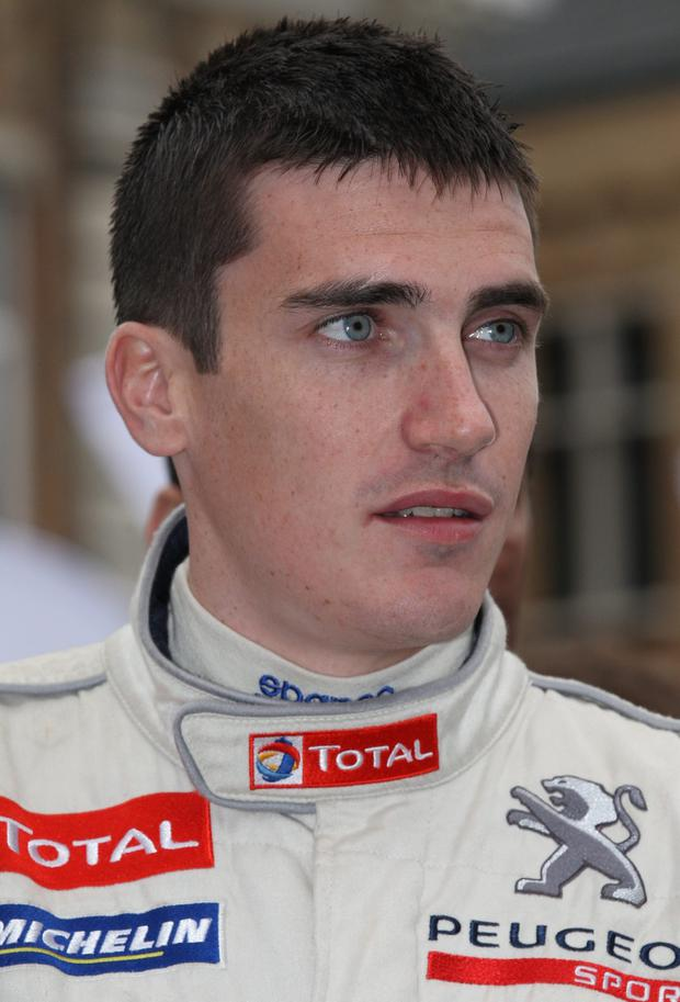 Craig Breen suffered engine failure as he approached the conclusion of stage 14