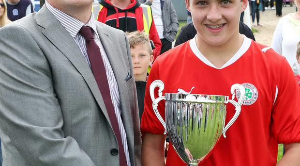 Cup glory: Cliftonville tasted Under-16 success last year