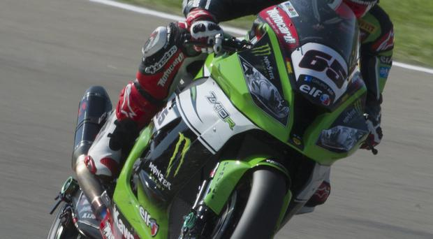 Still top: Jonathan Rea claimed two third place finishes in California last night