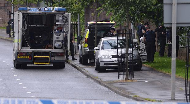 A security alert is underway in north Belfast after a suspicious object was found. The discovery was made at the junction of North Queen Street and Brougham Street.Pacemaker Press Belfast 21-07-2015 Picture: Arthur Allison.