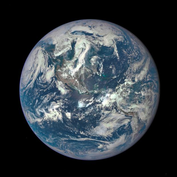 Photo issued by NOAA of the Earth photographed from one million miles way by a NASA camera on the Deep Space Climate Observatory (DSCOVR) satellite. Photo: NOAA/PA Wire