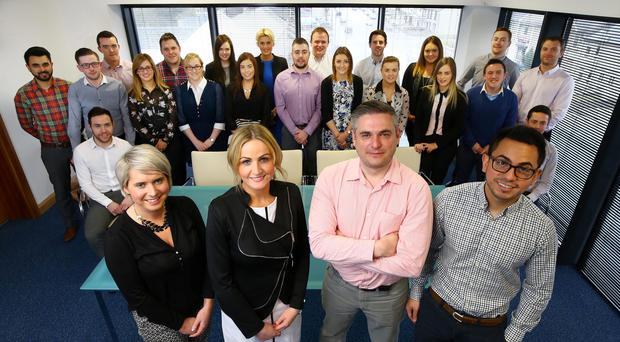 The staff of LCC Power at their headquarters in Cookstown PRESSEYE