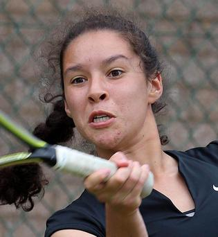 Lucy Octave exited the ITF junior world ranking tournament at the quarter final stage