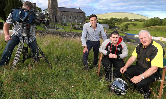 Camera... action: Armoy TV highlights producer Graham Little, rider Michael Dunlop and Clerk of the Course Bill Kennedy