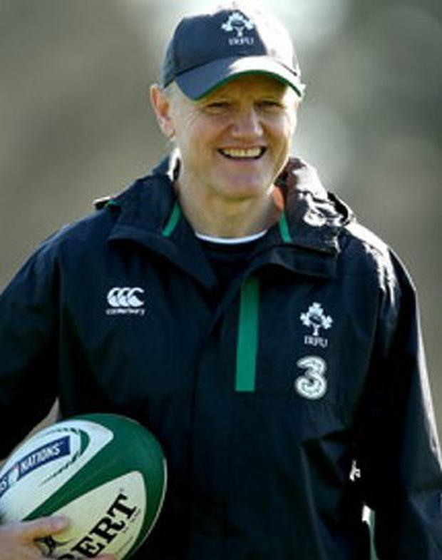 Big grin: Joe Schmidt has extended his contract as Ireland boss for a further year