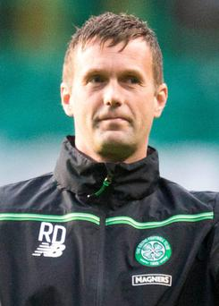 Next round: Celtic manager Ronny Deila admitted the display could have been better but was pleased with the result