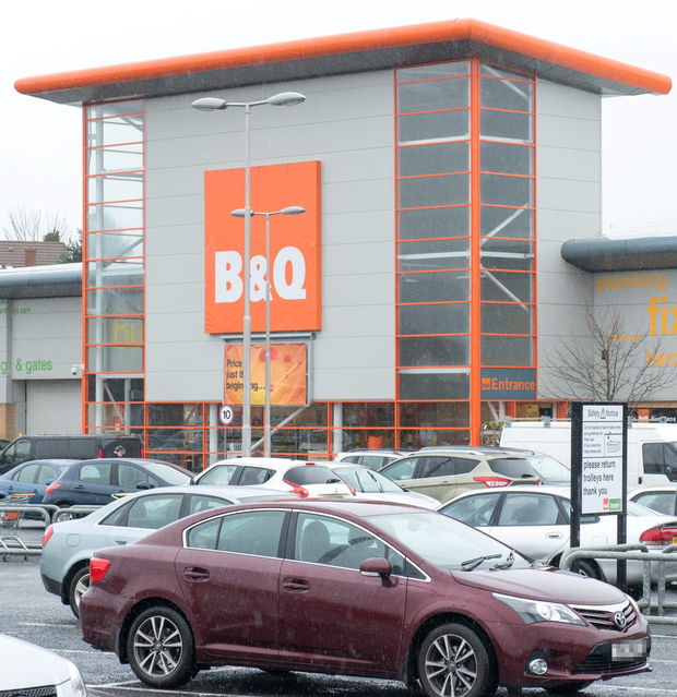 The Buncrana Road B&Q, which will close 'at the end of the financial year' along with the Boucher Road location