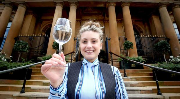 Becky Carr at the launch of the water menu