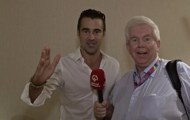 Colin Farrell sends a touching message to atheletes taking part in the Special Olympics.