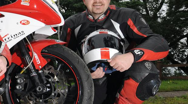 Ian Simpson, the rider who was injured in the crash at Armoy road races on Saturday. Pic: Stephen Davison/Pacemaker.