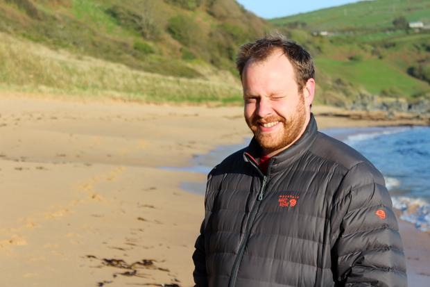 Life's a beach: Ross Parkhill loves to walk along the Benone shore to relax