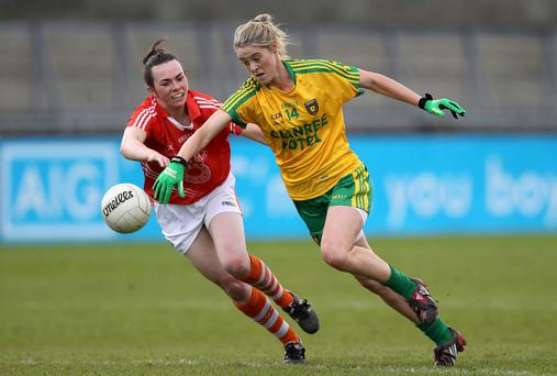 Star attraction: Yvonne McMonagle of Donegal was in inspired form for her side as they beat Monaghan