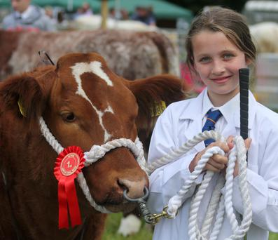 Enjoying the Antrim Show on Saturday is Victoria Workman who won the overall young handler award