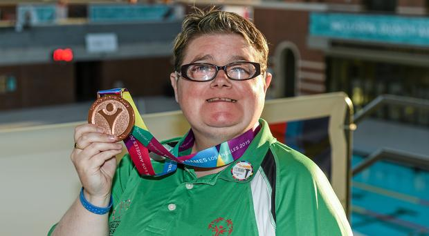Team Irelands Sarah Jane Johnston, a member of Ripples Sports Special Olympics Club, from Lurgan, Co Armagh.
