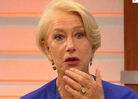 "Helen Mirren looked horrified and asked ""Why can't you say that?"""
