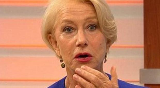 """Helen Mirren looked horrified and asked """"Why can't you say that?"""""""