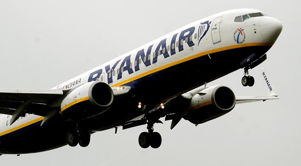 Flying high: Ryanair carried 10.1m customers in July