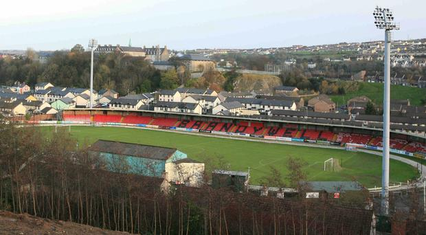 Derry City's homeground Brandywell