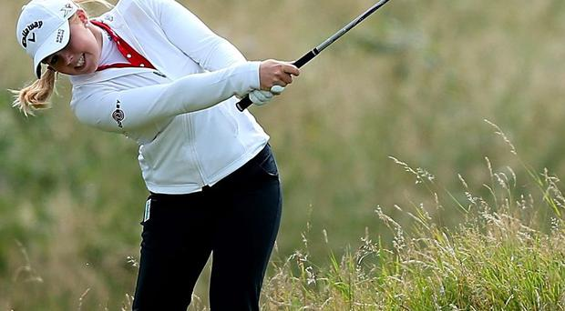 Stephanie Meadow's marked two over par 74 in the opening round of the Women's Open