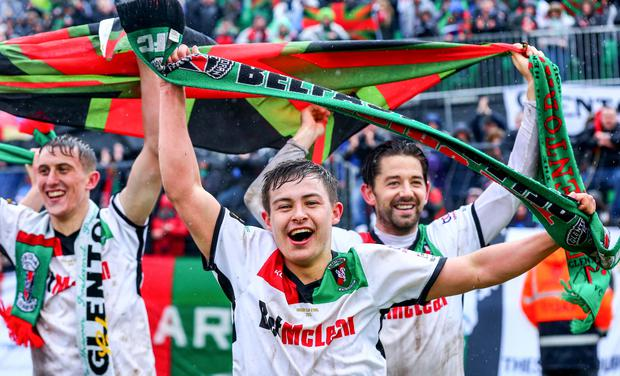 Steep learning curve: Young winger Jordan Stewart has been through highs and lows during his time at Glentoran
