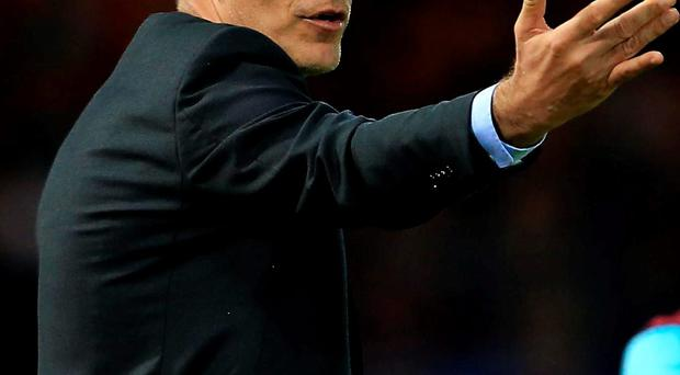 West Ham manager Slaven Bilic was sent to the stands during his team's Europa League qualifying match with Astra Giurgiu