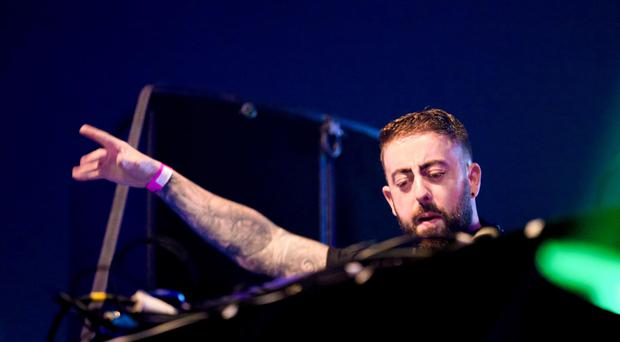 DJ Paul Woods during the Feile GOODGREEF in the Big Tent at the Falls Park. Kevin Scott / Presseye.