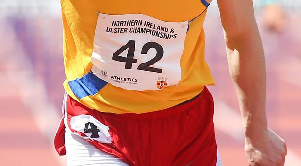 Best man: Ben Reynolds set a new NI high hurdles record