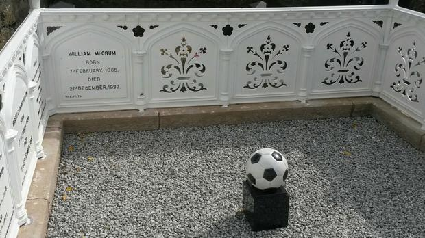 Footballer William McCrum's grave