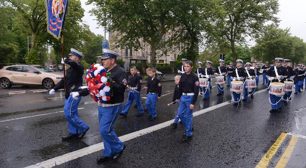 Pacemaker Press Belfast 29-07-2015: Bands pictured taking part in the Annadale Heritage & Cultural Society Ormeau Road Parade in Belfast. Picture By: Pacemaker.