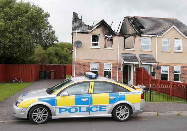 The scene at Hazel View in the Lagmore area of Dunmurry. Picture by Jonathan Porter/Press Eye