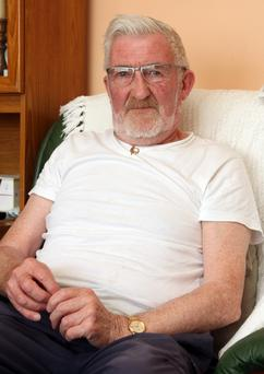Victim: Arthur Hughes, 75, was called a 'paddy b******' by his neighbour. Pic Dover Express